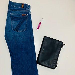 7 Se7en For All Mankind Crop Dojo Jeans Blue